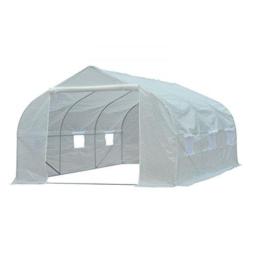 MRT-SUPPLY-11-x-10-x-7-Portable-Walk-In-Garden-Greenhouse-White-with-Ebook-0