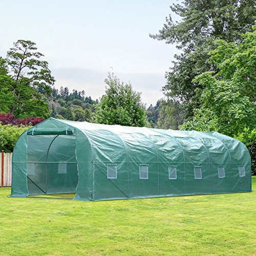MRT-SUPPLY-2625-Outdoor-Walk-In-Greenhouse-Extra-Large-Plant-Gardening-PE-Cover-Green-with-Ebook-0-0