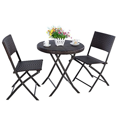 MRT-SUPPLY-3PC-Folding-Round-Table-Chair-Bistro-Set-Rattan-Wicker-Outdoor-Furniture-with-Ebook-0