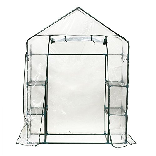 MRT-SUPPLY-4-Shelves-Outdoor-Portable-Walk-In-Greenhouse-Plant-Flower-Gardening-wClear-PE-Cover-with-Ebook-0