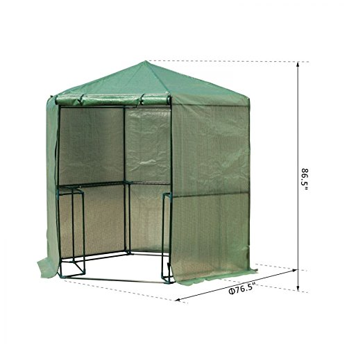 MRT-SUPPLY-65-x-7-2-Tier-Outdoor-Portable-Walk-In-Hexagonal-Greenhouse-Kit-Backyard-Hot-Plant-House-with-Ebook-0-0