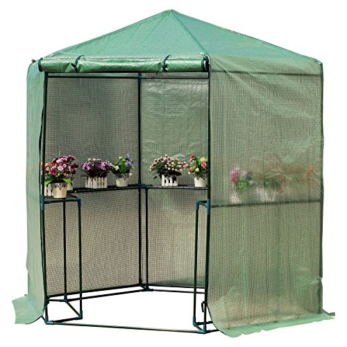 MRT-SUPPLY-65-x-7-2-Tier-Outdoor-Portable-Walk-In-Hexagonal-Greenhouse-Kit-Backyard-Hot-Plant-House-with-Ebook-0