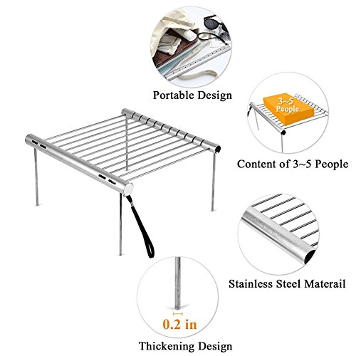 MSPowerstrange-Portable-Stainless-Steel-BBQ-Grill-Folding-Mini-Pocket-Outdoor-Barbecue-Picnic-Camping-Flat-0-1