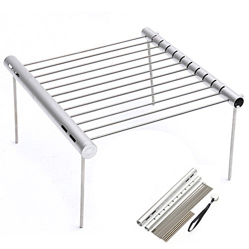 MSPowerstrange-Portable-Stainless-Steel-BBQ-Grill-Folding-Mini-Pocket-Outdoor-Barbecue-Picnic-Camping-Flat-0