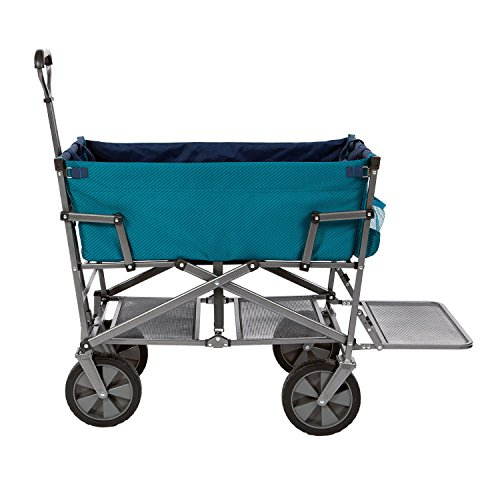 Mac-Sports-DD-100-Collapsible-Double-Decker-Outdoor-Utility-Wagon-with-Extended-Lower-Shelf-Teal-0-0