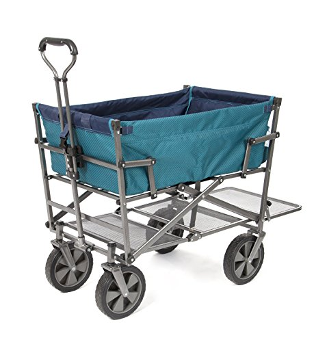 Mac-Sports-DD-100-Collapsible-Double-Decker-Outdoor-Utility-Wagon-with-Extended-Lower-Shelf-Teal-0