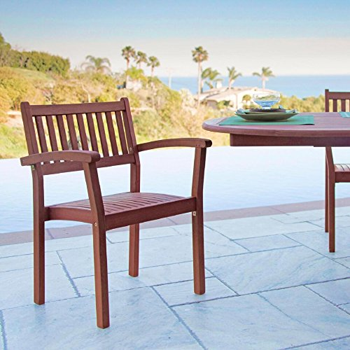 Malibu-V1802SET5-Outdoor-Patio-3-Piece-Wood-Dining-Set-with-Stacking-Chair-Natural-0-0