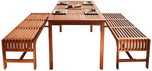 Malibu-V98SET5-Eco-Friendly-3-Piece-Wood-Outdoor-Dining-Set-with-Backless-Benches-0