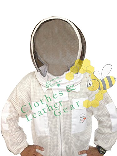 Massivebee-Beekeeping-Leg-Ziper-Ultra-Ventilated-Suit-with-domo-fencing-veil-bee-suit-0-2