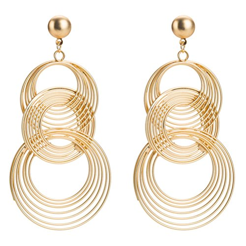Metal-Circle-Clip-on-Long-Tassel-Hoop-Earrings-Art-Deco-Gift-for-Girls-Women-0