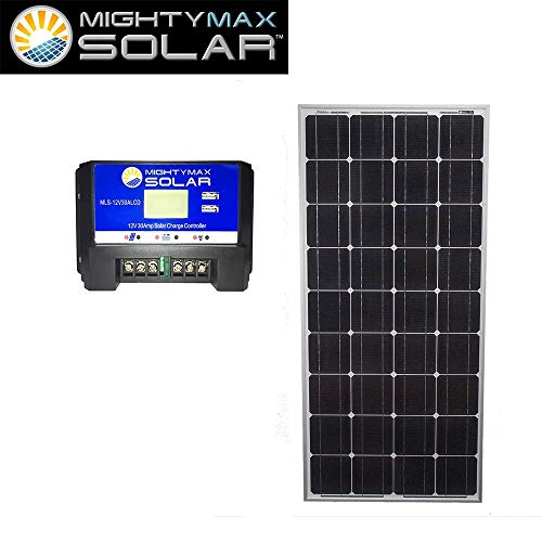 Mighty-Max-Battery-100W-Mono-Solar-Panel-Jet-Ski-12V-30Amp-Solar-Charge-Controller-brand-product-0