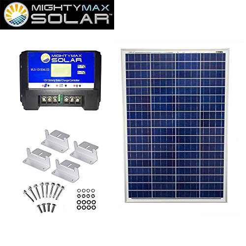 Mighty-Max-Battery-100W-Poly-Solar-Panel-Camping-12V-30A-Controller-Z-Bracket-brand-product-0