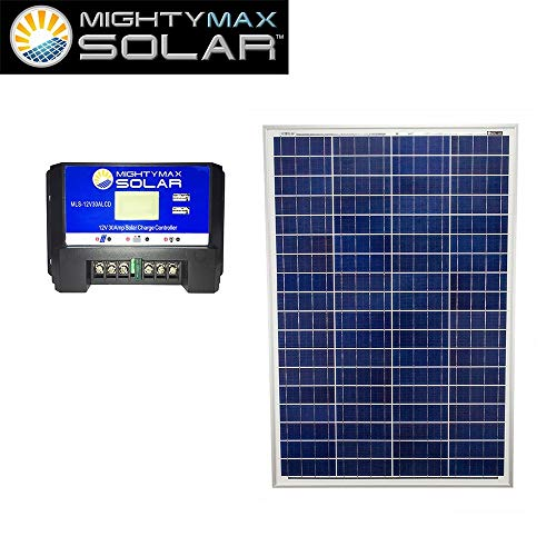 Mighty-Max-Battery-100W-Poly-Solar-Panel-Lawn-Mowers-12V-30Amp-Charge-Controller-brand-product-0