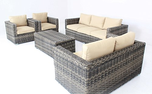 Mixed-Color-Outdoor-Patio-Sofa-Sectional-Wicker-Furniture-5pc-Couch-Set-Sunbrella-0-0