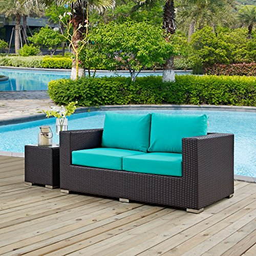 Modern-Contemporary-Urban-Design-Outdoor-Patio-Balcony-Loveseat-Sofa-Blue-Rattan-0-0