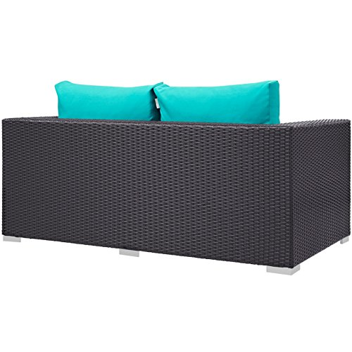 Modern-Contemporary-Urban-Design-Outdoor-Patio-Balcony-Loveseat-Sofa-Blue-Rattan-0-2