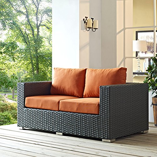 Modern-Contemporary-Urban-Design-Outdoor-Patio-Balcony-Loveseat-Sofa-Orange-Rattan-0-0