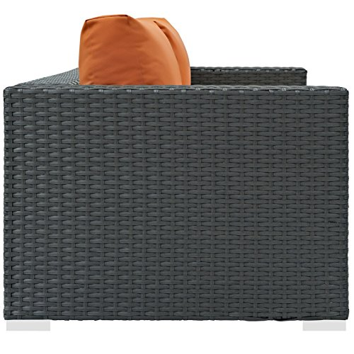 Modern-Contemporary-Urban-Design-Outdoor-Patio-Balcony-Loveseat-Sofa-Orange-Rattan-0-1
