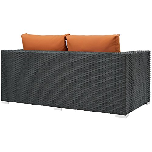 Modern-Contemporary-Urban-Design-Outdoor-Patio-Balcony-Loveseat-Sofa-Orange-Rattan-0-2
