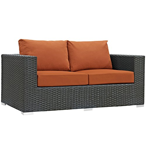 Modern-Contemporary-Urban-Design-Outdoor-Patio-Balcony-Loveseat-Sofa-Orange-Rattan-0