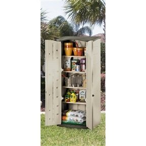 MyEasyShopping-Heavy-Duty-Vertical-Outdoor-Cabinet-Weather-Resistant-Storage-Shed-Storage-Shed-Resistant-Weather-Patio-Outdoor-Deck-Box-Resin-Garden-Water-0