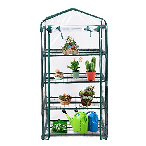 MyEasyShopping-Outdoor-Portable-Mini-4-Shelves-Greenhouse-Greenhouse-Plant-Shelves-3-Growing-Rack-Stand-Start-New-Adjustable-0-0