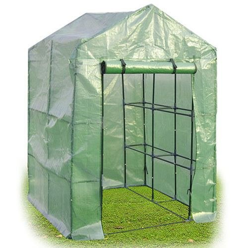N-8-Shelves-Greenhouse-Portable-Mini-Walk-In-Outdoor-Green-House-2-Tier-New-0