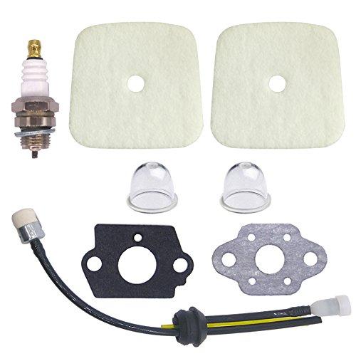 NIMTEK-2-Pack-Air-Filter-with-Spark-Plug-Fuel-Line-Repower-Kit-Gaskets-for-Mantis-Tiller-Cultivator-7222-7222E-7222M-7225-7230-7240-7920-7924-SV-4B-SV-4BH-SV-5C-SV-5C1-SV-5C2-SV-5Ci-SV-5Ci2-SV-5H2-0