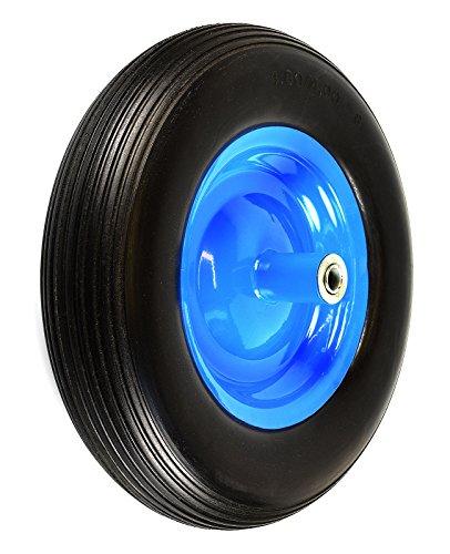 NK-WFF16BK-Flat-Free-Wheelbarrow-Tire-with-Ribbed-Tread-6-Inch-Centered-Hub-58-Inch-Bearings-155-Inch-Tire-Diameter-480400-8-0