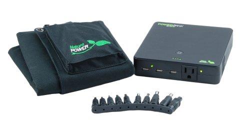 Nature-Power-55026-18-watt-Folding-Solar-Panel-with-Portable-Power-Bank-Elite-25-Li-Ion-Rechargeable-Battery-Pack-0-0