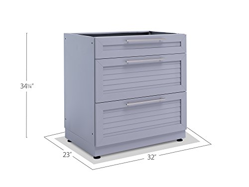 NewAge-65402-32-3-Drawer-Outdoor-Kitchen-Cabinet-0-Ash-Gray-0-1