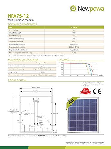 Newpowa-70w-Watt-Panel-12v-Solar-Battery-Charging-System-Kit-Marine-Rv-Diyphocos-Controler-Mounting-Hardware-Cable-w-Fuse-0-1
