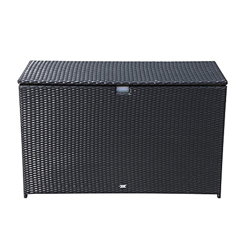 Orange-Casual-Patio-Aluminum-Frame-Resin-Wicker-Storage-Bin-Deck-Box-140-Gal-0-0