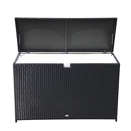 Orange-Casual-Patio-Aluminum-Frame-Resin-Wicker-Storage-Bin-Deck-Box-140-Gal-0-1