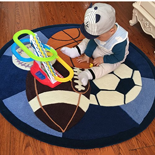Ottomans-Tatami-rugs-Childrens-room-carpet-Boy-round-game-pad-Cartoon-football-basketball-crawling-mat-Bedroom-room-mat-round-carpet-Computer-chair-cushion-0-0