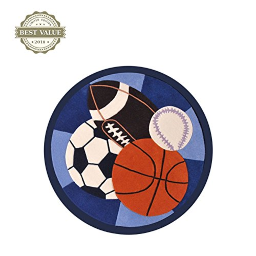 Ottomans-Tatami-rugs-Childrens-room-carpet-Boy-round-game-pad-Cartoon-football-basketball-crawling-mat-Bedroom-room-mat-round-carpet-Computer-chair-cushion-0