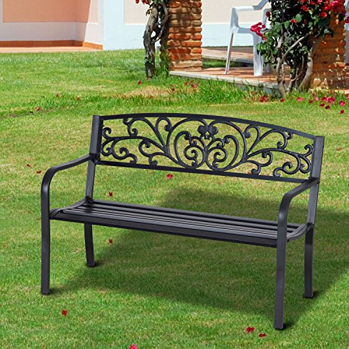 Outdoor-Bench-50-Blossoming-Garden-Decorative-Patio-Seat-With-Ebook-0-0