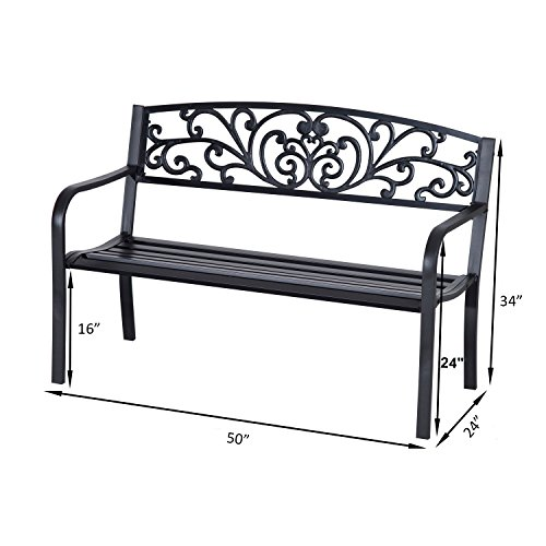 Outdoor-Bench-50-Blossoming-Garden-Decorative-Patio-Seat-With-Ebook-0-1