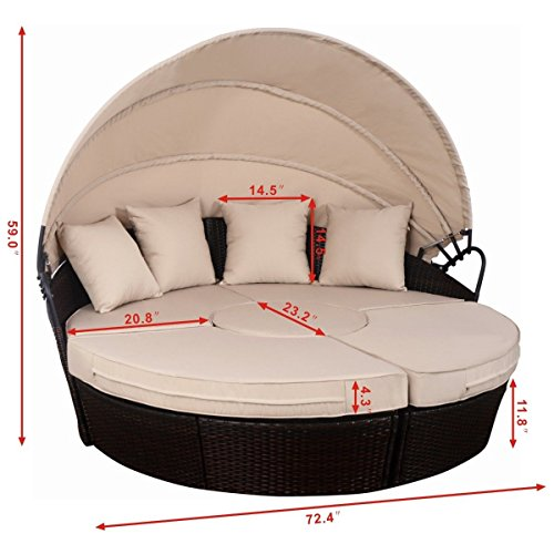 Outdoor-Mix-Brown-Rattan-Patio-Sofa-Furniture-Round-Retractable-Canopy-Daybed-0