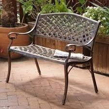 Outdoor-Patio-Bench-GardenCast-AluminumCopper-0