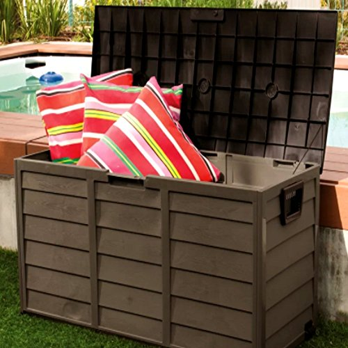 Outdoor-Patio-Deck-Box-All-Weather-Large-Storage-Cabinet-Container-BeigeGreen-60-Gallon-Plastic-Deck-Box-E-Book-0