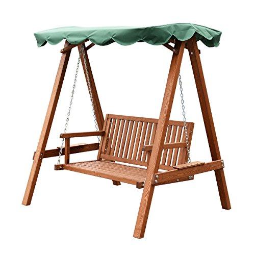 Outdoor-Swing-Loveseat-Hammock-Canopy-Patio-Garden-Furniture-Larch-Wooden-0