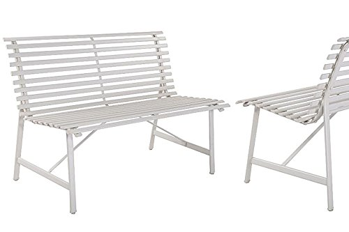 Outdoor-Warm-Gray-Garden-Steel-Bench-Backyard-Slat-Back-Seat-Furniture-Lawn-eBook-0-0