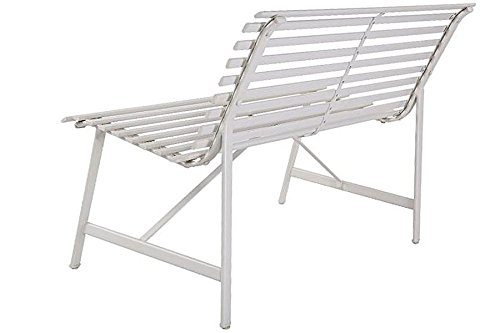 Outdoor-Warm-Gray-Garden-Steel-Bench-Backyard-Slat-Back-Seat-Furniture-Lawn-eBook-0-2