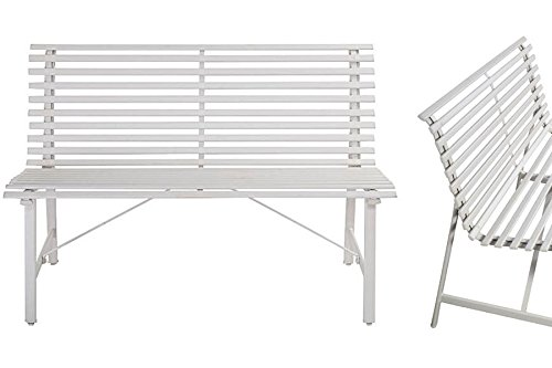 Outdoor-Warm-Gray-Garden-Steel-Bench-Backyard-Slat-Back-Seat-Furniture-Lawn-eBook-0