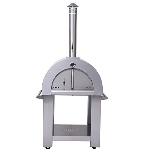 Outdoor-Wood-Fried-Pizza-Oven-Stainless-Steel-Cooking-Area-517ft-Sliver-With-Wheels-0