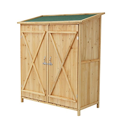 Outdoor-Wooden-Garden-Shed-Medium-Storage-Shed-Lockable-Storage-Unit-with-Double-Doors-0-0