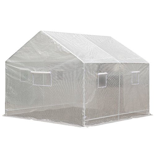 Outsunny-10-x-95-x-8-Ventilated-Portable-Walk-in-Greenhouse-with-PE-Cover-0-1
