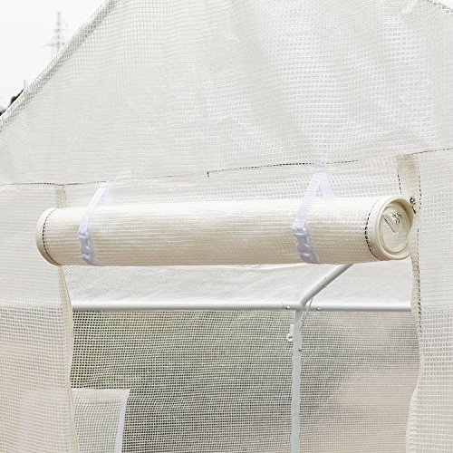 Outsunny-10-x-95-x-8-Ventilated-Portable-Walk-in-Greenhouse-with-PE-Cover-0-2