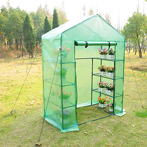 Outsunny-Outdoor-Portable-Walk-in-Greenhouse-Lightweight-Deck-with-Zippered-Door-0-0